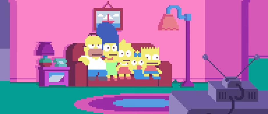 Pixel Art: LosSimpsons